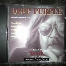 CDs de Música: DEEP PURPLE. LIVE IN STOCKHOLM 1970. IL DIZIONARIO DE ROCK. 1991. Lote 39063291