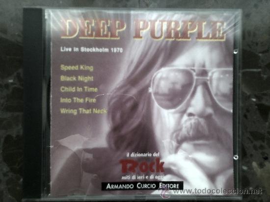 CDs de Música: DEEP PURPLE. LIVE IN STOCKHOLM 1970. IL DIZIONARIO DE ROCK. 1991 - Foto 2 - 39063291