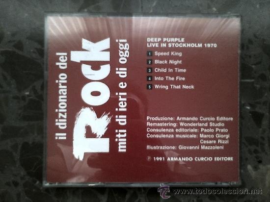 CDs de Música: DEEP PURPLE. LIVE IN STOCKHOLM 1970. IL DIZIONARIO DE ROCK. 1991 - Foto 3 - 39063291
