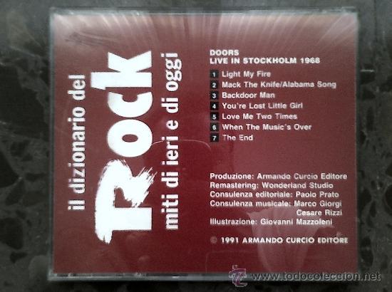 CDs de Música: DOORS. LIVE IN STOCKHOLM 1968. IL DIZIONARIO DEL ROCK, 1991 - Foto 3 - 39063340