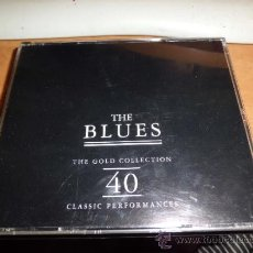 CDs de Música: THE BLUES -GOLD COLLECTION 40 CANCIONES 2 CD´S . Lote 39245639