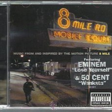 CDs de Música: BSO - 8 MILE ROAD - CD UNIVERSAL 2002 NUEVO - EMINEM - 50 CENT. Lote 39334917