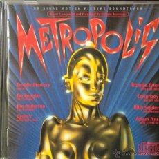 CDs de Música: METROPOLIS- MUSIC COMPOSED AND PRODUCED BY GIORGIO MORODER-ORIGINAL MOTION PICTURE SOUNDTRACK-. Lote 39366356