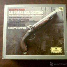 CDs de Música: ESTUCHE 3 CD'S+LIBRITO GIUSEPE VERDI-LA FORZA DEL DESTINO-PHILHARMONIA ORCHESTRA GIUSEPE SINOPOLI. Lote 39406076