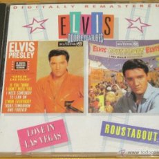 CDs de Música: ELVIS PRESLEY - LOVE IN LAS VEGAS + ROUSTABOUT - CD - BMG 2001 SPAIN - DOUBLE FEATURES. Lote 39429578