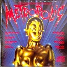 CDs de Música: METROPOLIS- MUSIC COMPOSED AND PRODUCED BY GIORGIO MORODER-ORIGINAL MOTION PICTURE SOUNDTRACK-. Lote 39448348
