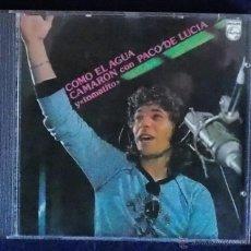 CDs de Música: CD CAMARON CON PACO DE LUCIA Y TOMATITO - COMO EL AGUA. Lote 39540098
