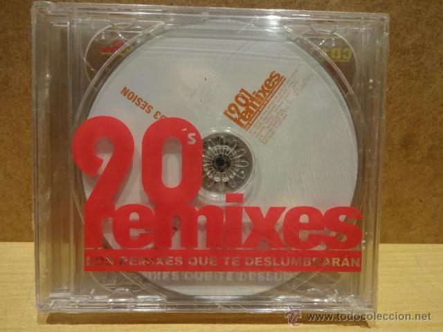 90'S REMIXES. LOS REMIXES QUE TE DESLUMBRARÁN. ( 3 X CD ) SUENAMUSIC 2004. PRECINTADO. (Música - CD's Techno)