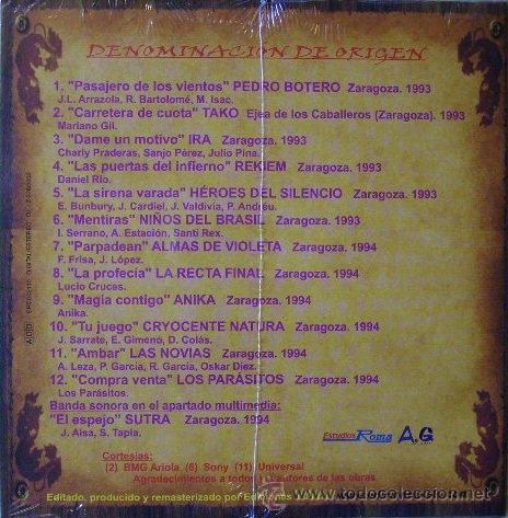 HEROES DEL SILENCIO...LAS NOVIAS...NIÑOS DEL BRASIL.DENOMINACION DE ORIGEN..ROCK ARAGON.NUEVO. (Música - CD's Rock)
