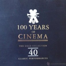 CDs de Música: 100 YEARS OF CINEMA- 40 CLASSIC PERFORMANCES- CAJA CON 2 CD'S. Lote 39628798