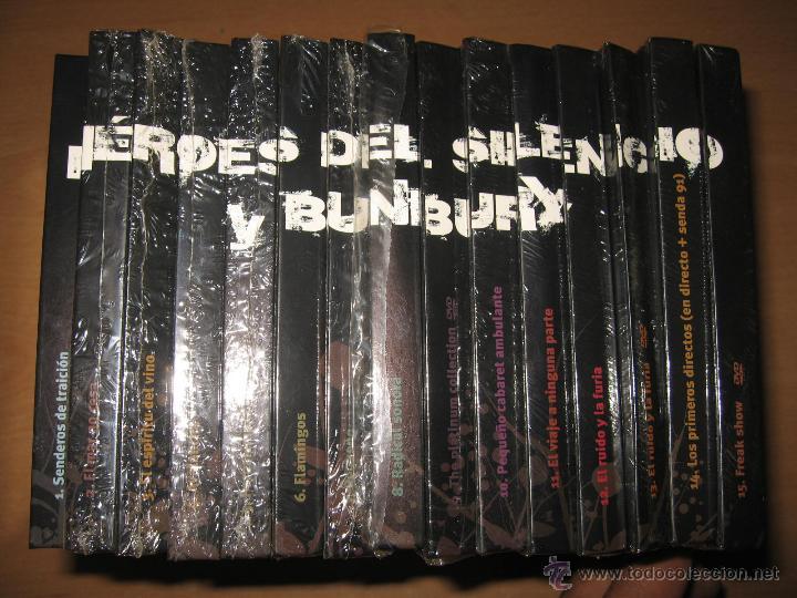 COLECCION COMPLETA HEROES DEL SILENCIO Y BUNBURY 15 LIBROS CD + TESORO TOUR 2007 CON DVD PRECINTADOS (Música - CD's Rock)
