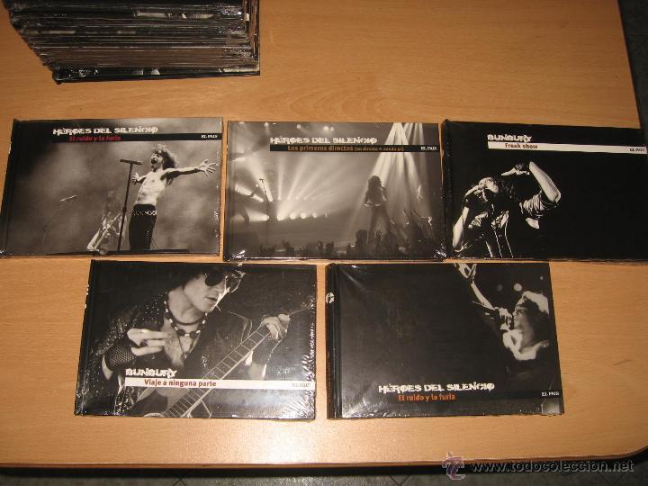 CDs de Música: COLECCION COMPLETA HEROES DEL SILENCIO Y BUNBURY 15 LIBROS CD + TESORO TOUR 2007 CON DVD PRECINTADOS - Foto 2 - 39710682
