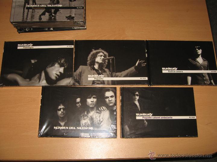 CDs de Música: COLECCION COMPLETA HEROES DEL SILENCIO Y BUNBURY 15 LIBROS CD + TESORO TOUR 2007 CON DVD PRECINTADOS - Foto 3 - 39710682