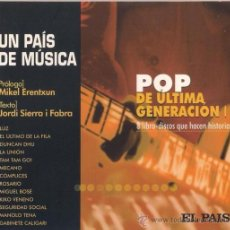 CDs de Música: UN PAIS DE MÚSICA. POP DE ÚLTIMA GENERACIÓN I. EL PAIS 2000. Lote 39744654