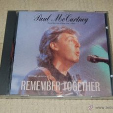 CDs de Música: PAUL MCCARTNEY REMEMBER TOGETHER. Lote 39780426