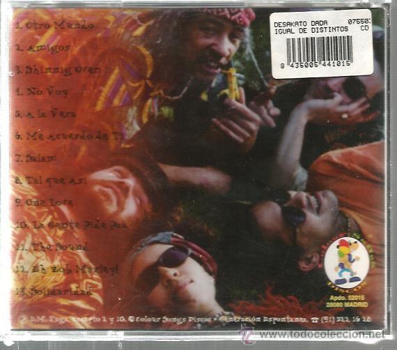 CDs de Música: CD DESAKATO DA DA : IGUAL DE DISTINTOS ( REGGAE EN ESPAÑOL ) - Foto 2 - 39930702