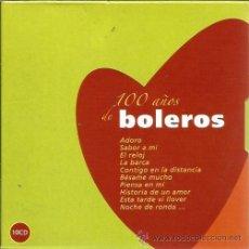 CDs de Música: CAJA 10 CD´S 100 AÑOS BOLEROS 200 CANCIONES ( LOS PANCHOS, GUILLOT, MACHIN, MANZANERO,NAT KING COLE. Lote 39939290