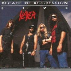 CDs de Música: CAJA 2 CD´S SLAYER : DECADE OF AGGRESSION - LIVE ( FANTASTICO TRASH METAL EN DIRECTO ). Lote 39943874