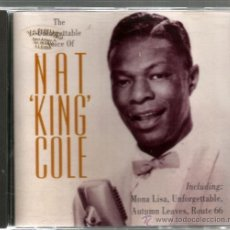 CDs de Música: CD NAT KING COLE : THE UNFORGETTABLE VOICE OF NAT KING COLE . Lote 39964134