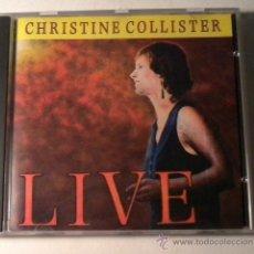 CDs de Música: CHRISTINE COLLISTER - LIVE - CD - AUTOGRAFIADO CON DEDICATORIA FIRMADA. Lote 39979168