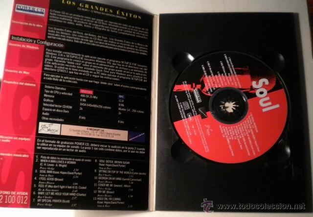 CDs de Música: Los Grandes Exitos - SOUL -Power CD - versiones originales - historias y más de 100 fotográfias - Foto 2 - 39979365