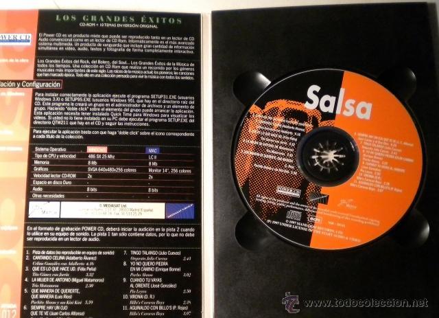CDs de Música: Los Grandes Exitos - SALSA -Power CD - versiones originales - historias y más de 100 fotográfias - Foto 2 - 39979376