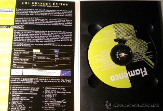 CDs de Música: Los Grandes Exitos - FLAMENCO -Power CD - versiones originales - historias y más de 100 fotográfias - Foto 3 - 39979406