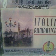 CDs de Música: CD MUSICA ROMANTICA ITALIANA DE LOS AÑOS 60 - 70. Lote 40008434