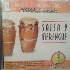 CDs de Música: CD DE MUSICA SALSA Y MERENGUE. Lote 40011210