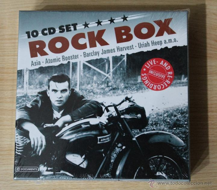 ROCK BOX 10 CD SET NUEVO PRECINTADO ASIA ATOMIC ROOSTER LITTLE RIVER BAND MEKONG DELTA SHAM 69 (Música - CD's Rock)