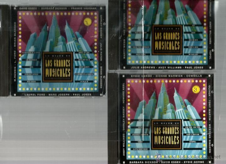 3 CD´S LOS GRANDES MUSICALES : CANTA JULIE ANDREWS, ANDY WILLIAMS, TOPOL, HOWARD KEEL, EYDIE GORME (Música - CD's Bandas Sonoras)