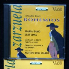 CDs de Música: BOHEMIOS - AMADEO VIVES - MARIA BAYO - LUIS LIMA - CON LIBRETO. Lote 40174195