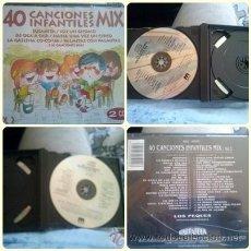 CDs de Música: 40 CANCIONES INFANTILES MIX 2 CD VOLOMEN 2. Lote 40295369