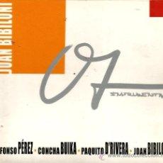 CDs de Música: CD JOAN BIBILONI : INSTRUMENTAL ( ALFONSO PEREZ , CONCHA BUIKA, PAQUITO D´RIVERA , TONI PASTOR, ETC. Lote 40360787