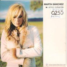 CDs de Música: MARTA SANCHEZ - AMOR COBARDE (CD SINGLE PROMOCIONAL 2002). Lote 40386461