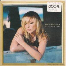 CDs de Música: MARTA SANCHEZ - NO TE QUIERO MAS (CD SINGLE PROMOCIONAL 2002). Lote 40386478