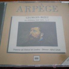 CDs de Música: CD - GEORGES BIZET. LA ARLESIANA. SUITE NUM. 1 Y 2. ORQUESTA DEL FESTIVAL DE LONDRES, ALFRED SCHOLZ.. Lote 40541535