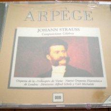 CDs de Música: JOHANN STRAUSS. COMPOSICIONES CÉLEBRES. DIRECTORES: ALFRED SCHOLZ Y CARL MICHALSKI. ARPÈGE. RECORDS.. Lote 40541974