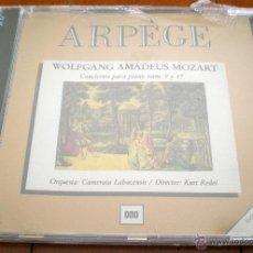 CDs de Música: CD - WOLFGANG AMADEUS MOZART. CONCIERTO PARA PIANO NUM.9 Y 17. ORQUESTA: CAMERATA LABACENSIS. ARPÈGE. Lote 40542189