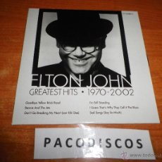 CDs de Música: ELTON JOHN GOODBYE YELLOW BRICK ROAD CD MAXI SINGLE PROMOCIONAL ESPAÑOL AÑO 2002 CONTIENE 6 TEMAS. Lote 40636069