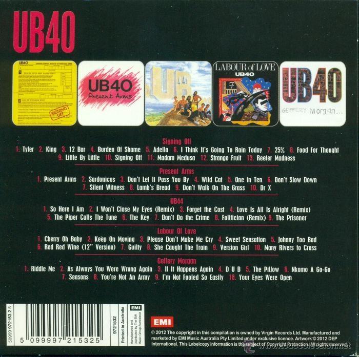 CDs de Música: UB40 * 5 CD ALBUM SET * Sus 5 primeros álbumes * Pack precintado de fábrica - Foto 2 - 40792777