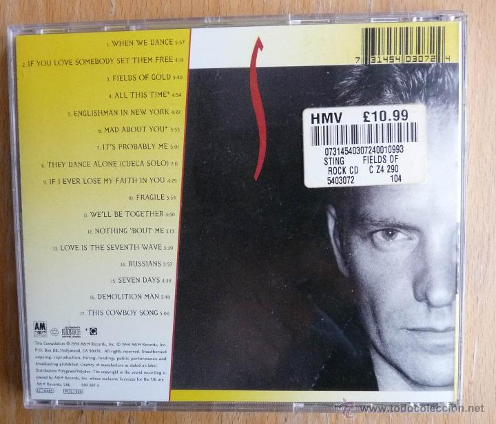 CDs de Música: STING: FIELDS OF GOLD - THE BEST OF *IMPECABLE* - Foto 2 - 40871215