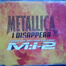 CDs de Música: METALLICA. I DISAPPEAR. CD SINGLE HOLLYWOOD RECORDS 0110225HWR. 2000. FROM THE MOTION PICTURE M:I-2.. Lote 40887535