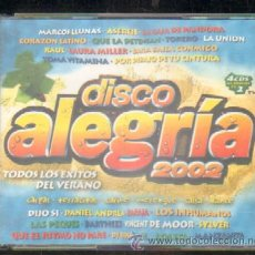 CDs de Música: DISCO ALEGRÍA 2002. 4 CD (CD-DOBLE-117). Lote 40920332