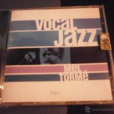 CDs de Música: CD. MEL TORME - VOCAL JAZZ (NUEVO). Lote 40964086