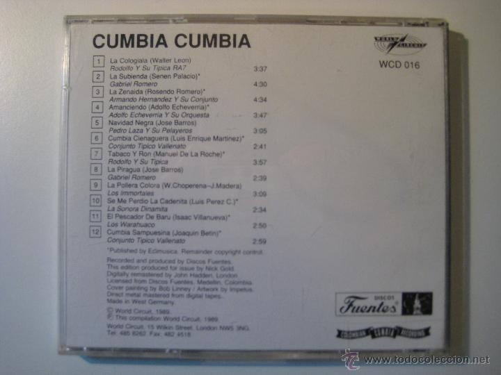 CDs de Música: CD CUMBIA CUMBIA - A SELECTION OF COLOMBIAN CUMBIA RECORDINGS - Foto 3 - 41021769