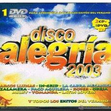 CDs de Música: DISCO ALEGRÍA 2003 - 2 CDS + 1 DVD 2003. Lote 41064289