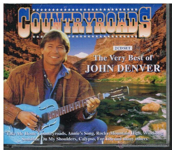 JOHN DENVER - THE VERY BEST OF JOHN DENVER. COUNTRYROADS - 2 CDS (Música - CD's Country y Folk)
