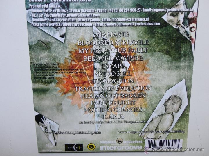 CDs de Música: BLACK THOUGHTS BLEEDING - STOMACHION - PROMO CD CAR 2010- 12 TRACKS- NEAR MINT. - Foto 2 - 41266840