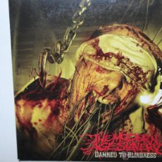 CDs de Música: THE MODERN AGE SLAVERY-DAMNED TO BLINDNESS - ITALY PROMO CD ALBUM CAR 2008- MINT.. Lote 41267821